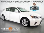 2017 Lexus CT 200h Hybrid *NAVIGATION, BACKUP-CAMERA, MOONROOF, HEATED SEATS, PUSH BUTTON START, ALLOY WHEELS, BLUETOOTH PHONE & AUDIO