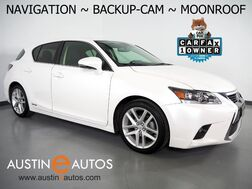 2017_Lexus_CT 200h Hybrid_*NAVIGATION, BACKUP-CAMERA, MOONROOF, HEATED SEATS, PUSH BUTTON START, ALLOY WHEELS, BLUETOOTH PHONE & AUDIO_ Round Rock TX