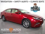 2017 Lexus ES 300h Hybrid *NAVIGATION, COLLISION ALERT w/BRAKING, BLIND SPOT & LANE DEPARTURE ALERT, ADAPTIVE CRUISE, BACKUP-CAMERA, CLIMATE SEATS, MOONROOF, INTUITIVE PARK ASSIST