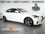 2017 Lexus IS Turbo *NAVIGATION, BLIND SPOT ALERT, COLLISION ALERT w/BRAKING, LANE DEPARTURE ALERT, ADAPTIVE CRUISE, BACKUP-CAMERA, MOONROOF, CLIMATE SEATS, BLUETOOTH PHONE & AUDIO