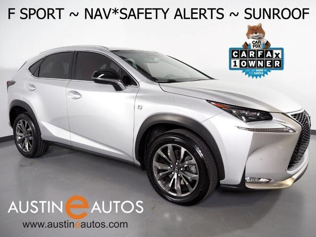 2017 Lexus NX Turbo F Sport *NAVIGATION, PRE-COLLISION ALERT, BLIND SPORT ALERT, ADAPTIVE CRUISE, BACKUP-CAMERA, MOONROOF, HEATED SEATS, POWER LIFTGATE, LED HEADLAMPS, BLUETOOTH Round Rock TX