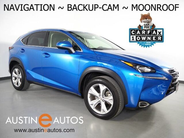 2017 Lexus NX Turbo *NAVIGATION, BLIND SPOT ALERT, BACKUP-CAMERA, MOONROOF, CLIMATE SEATS, INTUITIVE PARK ASSIST, POWER LIFTGATE, BLUETOOTH PHONE & AUDIO Round Rock TX