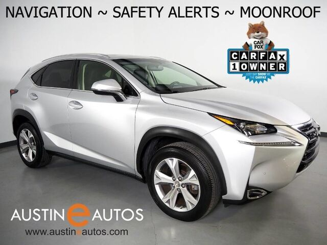 2017 Lexus NX Turbo *NAVIGATION, COLLISION ALERT w/BRAKING, ADAPTIVE CRUISE, BLIND SPOT ALERT, BACKUP-CAMERA, MOONROOF, CLIMATE SEATS, POWER LIFTGATE, BLUETOOTH AUDIO Round Rock TX