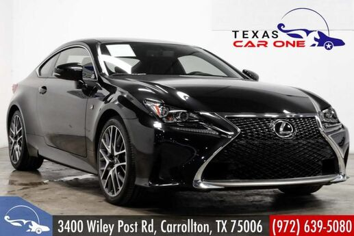 2017 Lexus RC 200t F SPORT NAVIGATION BLIND SPOT ASSIST INTUITIVE PARK ASSIST SUNRO Carrollton TX