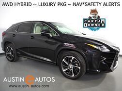 2017_Lexus_RX 450h AWD_*LUXURY PKG, NAVIGATION, BLIND SPORT & LANE DEPARTURE ALERT, COLLISION ALERT, ADAPTIVE CRUISE, 360 CAMERAS, CLIMATE SEATS, SEMI-ANILINE LEATHER, MOONROOF_ Round Rock TX