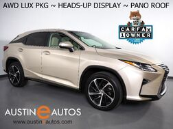 2017_Lexus_RX 450h AWD_*LUXURY PKG, PANORAMA MOONROOF, HEADS-UP DISPLAY, NAVIGATION, SAFETY ALERTS, 360 CAMERAS, CLIMATE SEATS, SEMI-ANILINE LEATHER, LED HEADLAMPS_ Round Rock TX