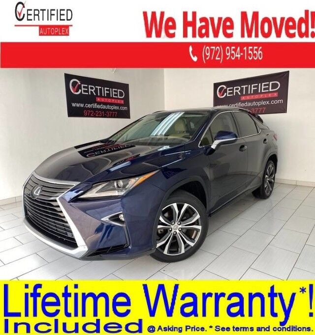 2017 Lexus RX350 SAFETY SYSTEM PLUS PKG PREMIUM PKG NAVIGATION SUNROOF PARK ASSIST LANE ASSI Dallas TX