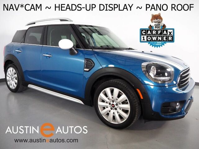 2017 MINI Cooper Countryman *NAVIGATION, HEADS-UP DISPLAY, BACKUP-CAMERA, PARKING ASSISTANT, PANORAMA MOONROOF, COMFORT ACCESS, HEATED SEATS, BLUETOOTH PHONE & AUDIO Round Rock TX