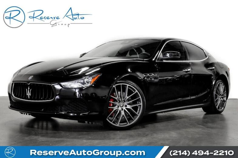 2017 Maserati Ghibli S 21 Alloys Red Calipers BlindSpot Assist BackUp Cam The Colony TX