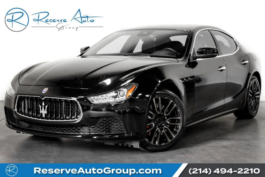 2017_Maserati_Ghibli_S Q4 Apollo Alloys BackUp Cam Bluetooth Htd Seats_ The Colony TX