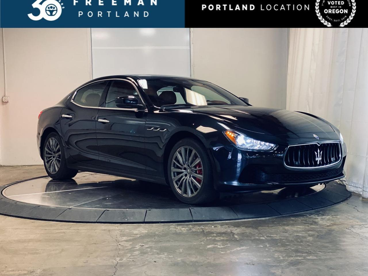 2017 Maserati Ghibli S Q4 Heated & Cooled Seats Red Interior Heated Steering Wheel Portland OR