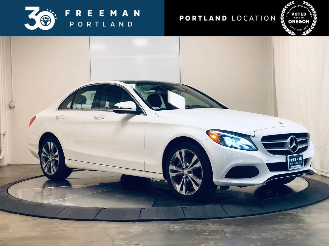 2017 Mercedes-Benz C 300 4MATIC Panorama Blind Spot Assist KeyGO 11k Miles Portland OR