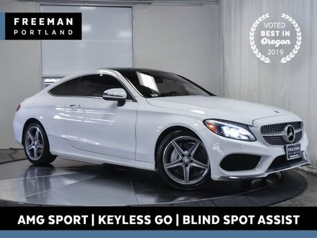 2017_Mercedes-Benz_C 300_AMG Sport Blind Spot Asst Back-Up Cam Keyless Go_ Portland OR