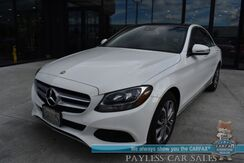2017_Mercedes-Benz_C 300_AWD / Premium 1 Pkg / Power & Heated Leather Seats / Panoramic Sunroof / Blind Spot Alert / Keyless Entry & Start / Bluetooth / Back Up Camera / 31 MPG_ Anchorage AK