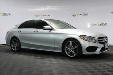 2017_Mercedes-Benz_C-Class_C 300 AMG Wheels, Sport Package, Rear View Monitor, Panorama_ Houston TX