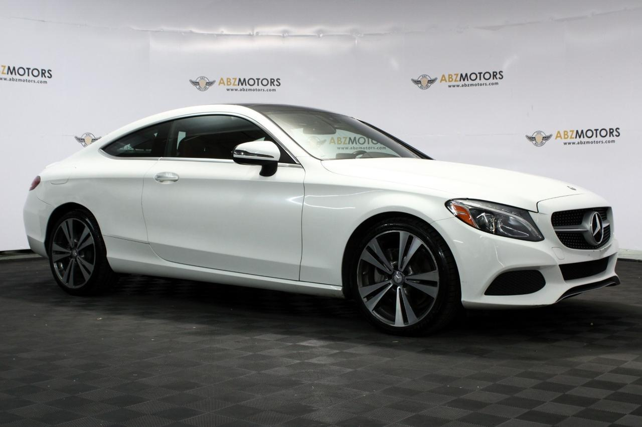 2017 Mercedes-Benz C-Class C 300 Coupe Sport Package, Red interior, Blind Spot, Lighting Package, Rear Cam! Houston TX