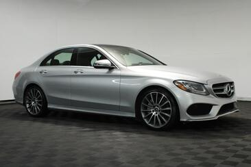 2017_Mercedes-Benz_C-Class_C 300 Sport AMG Pano Roof Rear View Camera_ Houston TX