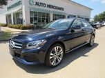 2017 Mercedes-Benz C-Class C300 4MATIC LEATHER, PANORAMIC SUNROOF, BACKUP CAMERA, HTD FRONT STS, NAVIGATION, WOODGRAIN INTERIOR