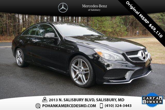 2017 Mercedes-Benz E-Class E 400 4MATIC® Coupe ** NAVI & SUNROOF ** ONE OWNER ** Salisbury MD