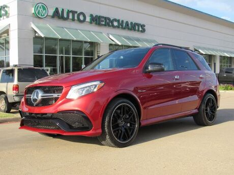 2017 Mercedes-Benz GLE-Class GLE63 AMG 4MATIC LEATHER, PANORAMIC SUNROOF, ADAPTIVE CRUISE CONTROL, UNDER FACTORY WARRANTY Plano TX