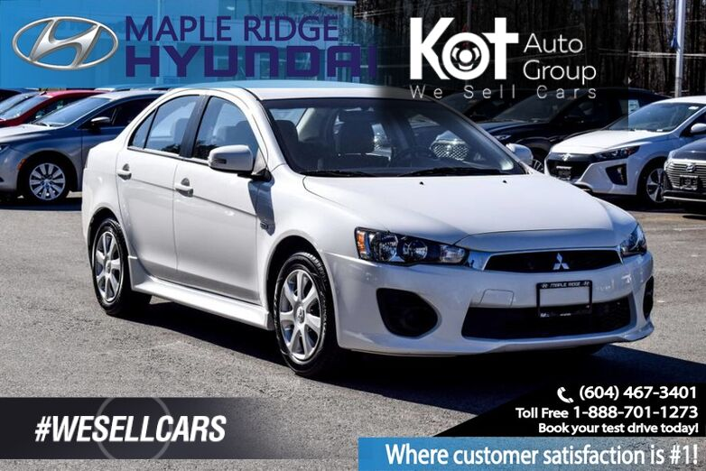 2017 Mitsubishi Lancer CVT ES Air Conditioning, Backup Camera Maple Ridge BC