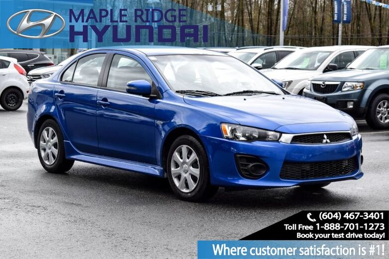 2017 Mitsubishi Lancer ES, Power Group, Alloy Wheels, Mint Condition Local Car with clean carproof! Maple Ridge BC