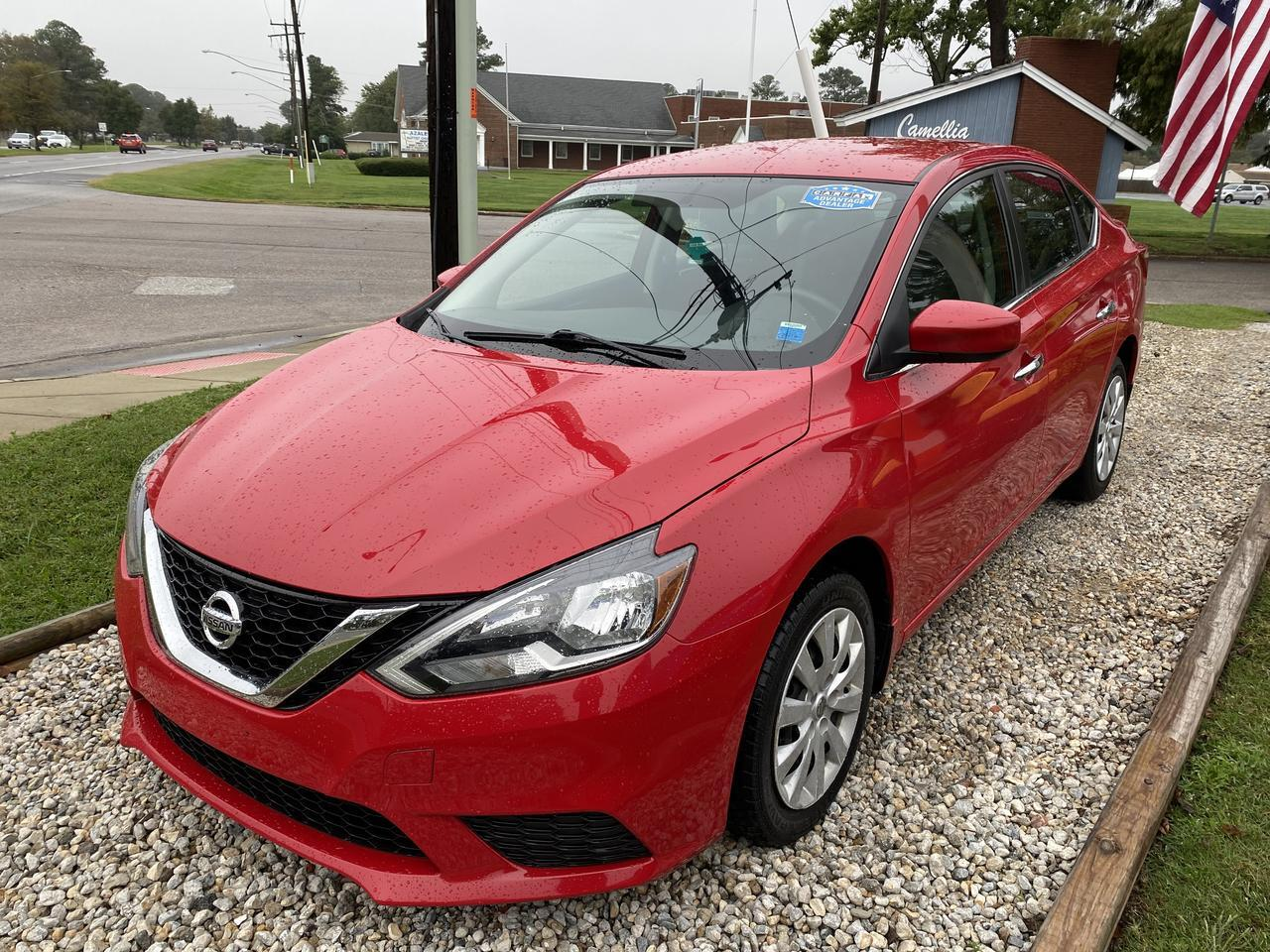 2017 NISSAN SENTRA SV, WARRANTY, BACKUP CAM, PARKING SENSORS, BLUETOOTH, AUX/USB PORT, SIRIUS RADIO, 1 OWNER! Norfolk VA