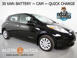 2017 Nissan LEAF S (12 of 12 BARS) *30-kWh BATTERY, BACKUP-CAMERA, QUICK CHARGE, HEATED SEATS & STEERING WHEEL, KEYLESS ENTRY/START, BLUETOOTH PHONE & AUDIO