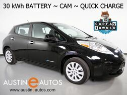 2017_Nissan_LEAF S (12 of 12 BARS)_*30-kWh BATTERY, BACKUP-CAMERA, QUICK CHARGE, HEATED SEATS & STEERING WHEEL, KEYLESS ENTRY/START, BLUETOOTH PHONE & AUDIO_ Round Rock TX