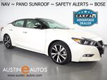 2017 Nissan Maxima Platinum 3.5L V6 *NAVIGATION, BLIND SPOT ALERT, COLLISION ALERT, SURROUND CAMERAS, ADAPTIVE CRUISE, PANORAMA MOONROOF, CLIMATE SEATS, BOSE AUDIO, BLUETOOTH