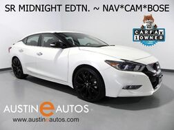 2017_Nissan_Maxima SR_*MIDNIGHT EDTN, NAVIGATION, BLIND SPOT ALERT, BACKUP-CAMERA, CLIMATE SEATS, BOSE AUDIO, BLACK ALLOYS, BLUETOOTH_ Round Rock TX