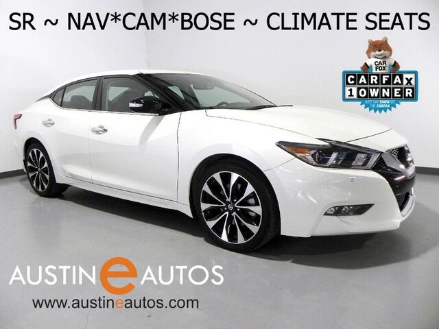2017 Nissan Maxima SR *NAVIGATION, BLIND SPOT ALERT, BACKUP-CAMERA, CLIMATE SEATS, BOSE AUDIO, BLUETOOTH Round Rock TX