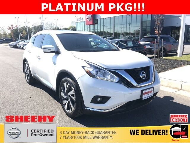 2017 Nissan Murano Platinum White Marsh MD