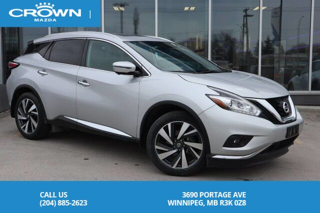 2017 Nissan Murano WEEKEND BLOW OUT PRICE!! Platinum **No Accidents/One Owner/Local** Winnipeg MB