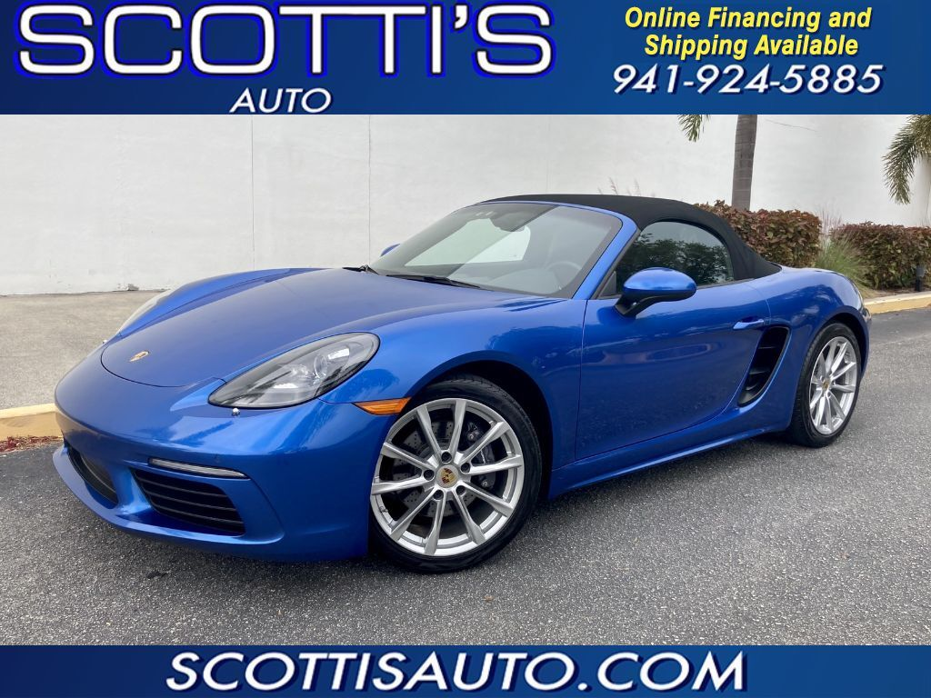 2017 Porsche 718 Boxster 718 BOXSTER~ BEST COLOR~ONLY 32K MILES~ MINT~ 1-OWNER~ CLEAN CARFAX~ MINT CONDITION~ POWER CONVERTIBLE TOP! LIKE NEW CONDITION! BEAUTIFUL CAR! ONLINE FINANCE AND SHIPPING AVAILABLE! Sarasota FL