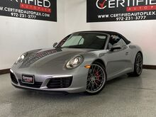 2017_Porsche_911_CARRERA S CABRIOLET MANUAL TRANSMISSION NAVIGATION REAR CAMERA PARK ASSIST_ Carrollton TX