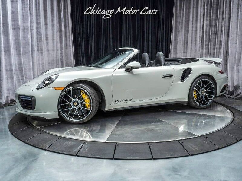 2017_Porsche_911_Turbo S Cabriolet Convertible MSRP $224K+ PTS Fashion Gray_ Chicago IL