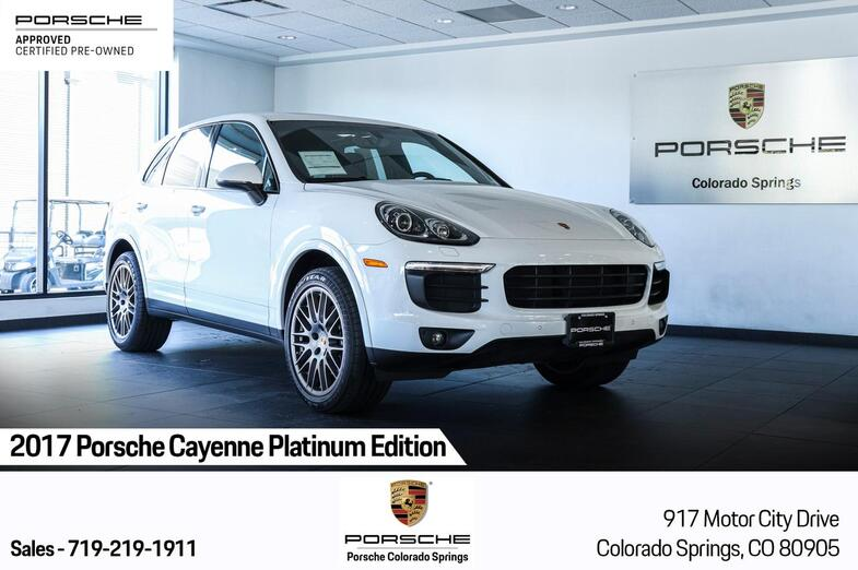 2017 Porsche Cayenne Platinum Edition Colorado Springs CO