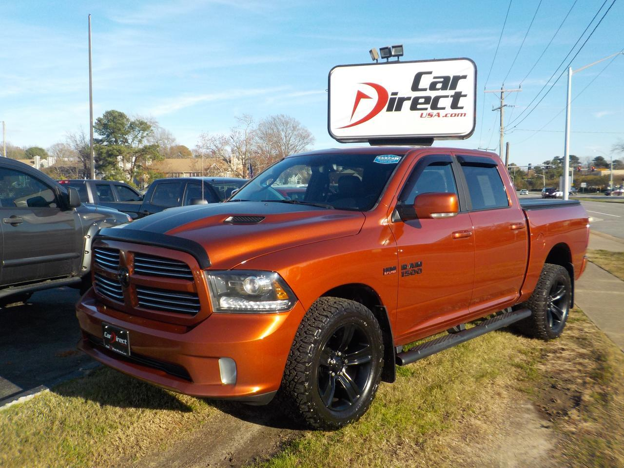 2017 RAM 1500 HEMI, CREW CAB SPORT 4X4, LEATHER, SOFT TONNEAU COVER, BACKUP CAMERA, HEATED SEATS, REMOTE START! Virginia Beach VA