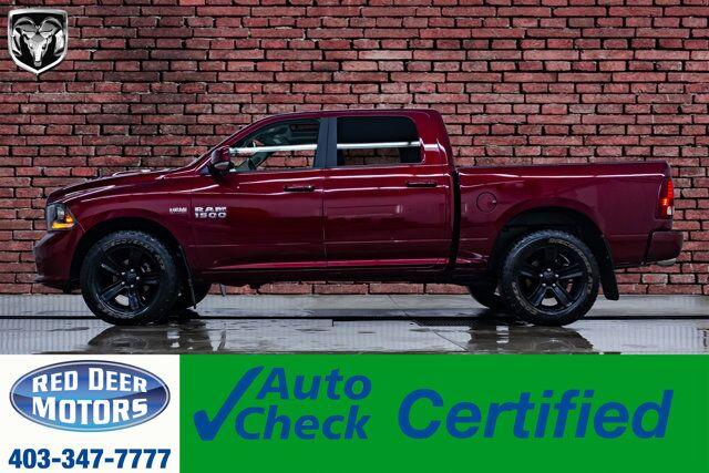2017 Ram 1500 4x4 Crew Cab Sport Leather Roof Nav Red Deer AB