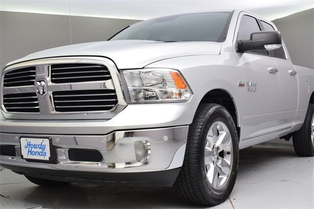 Used 2017 Ram 1500 Big Horn bright silver metallic clearcoat exterior black interior 4wd 4 doors