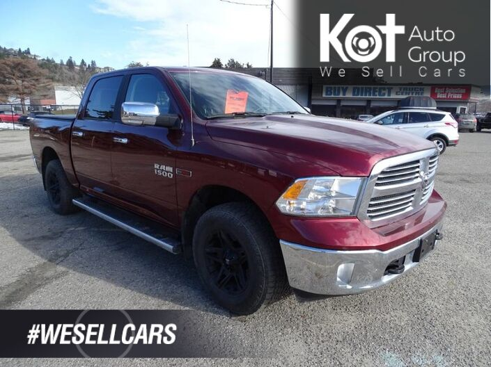 2017 Ram 1500 Big Horn Eco Diesel, Low KM's! No Accidents! Heated Seats and Steering Wheel, Navigation, Back-up Camera, Touch Screen Kelowna BC