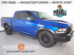 2017_Ram_1500 Rebel Crew Cab 4WD 5.7L V8_*LUXURY GROUP, NAVIGATION, BACKUP-CAMERA, COLOR TOUCH SCREEN, HEATED SEATS/STEERING WHEEL, REMOTE START, KEYLESS GO, BLUETOOTH PHONE & AUDIO_ Round Rock TX