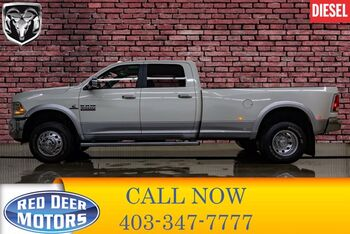 2017_Ram_3500_4x4 Crew Cab Laramie Dually Diesel AISIN Leather Roof Nav_ Red Deer AB