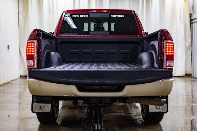 2017 Ram 3500 4x4 Crew Cab Longhorn Diesel AISIN  Leather Roof Nav Red Deer AB