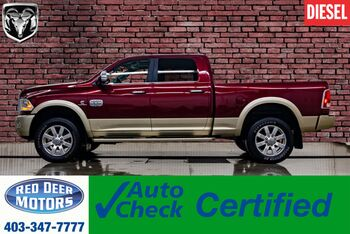 2017_Ram_3500_4x4 Crew Cab Longhorn Diesel AISIN  Leather Roof Nav_ Red Deer AB