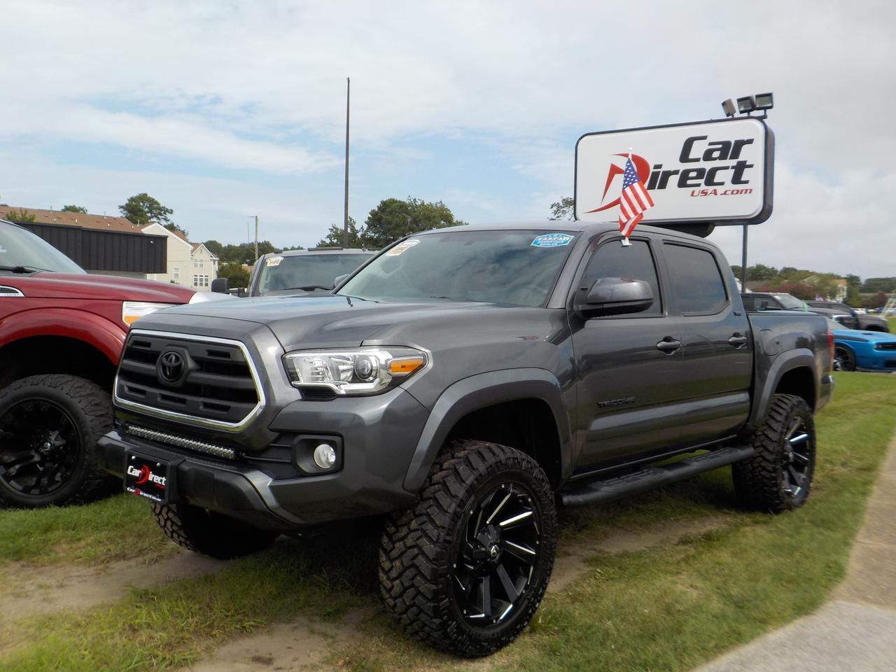 2017 TOYOTA TACOMA SR5 DOUBLE CAB 4X4, LIFTED, BACKUP CAM, SIRIUS RADIO, AUX/USB PORT, BLUETOOTH, LOW MILES! Virginia Beach VA