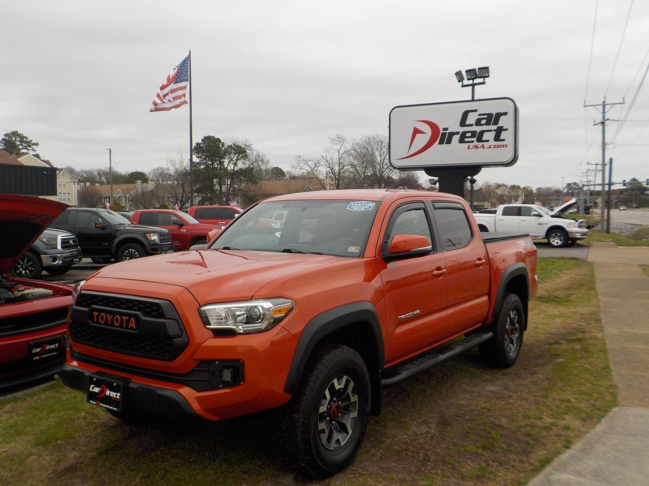 2017 TOYOTA TACOMA SR5 TRD OFF ROAD DOUBLE CAB 4X4, WARRANTY, SOFT TONNEAU COVER, TOW, RUNNING BOARDS, BACKUP CAMERA! Virginia Beach VA