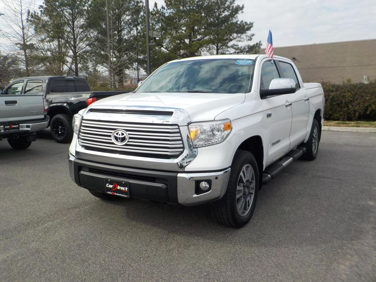 2017 TOYOTA TUNDRA CREWMAX LIMITED 4X4, NAVI, LEATHER HEATED SEATS, HARD TONNEAU COVER, TOW PKG, SUNROOF, BACKUP CAM!