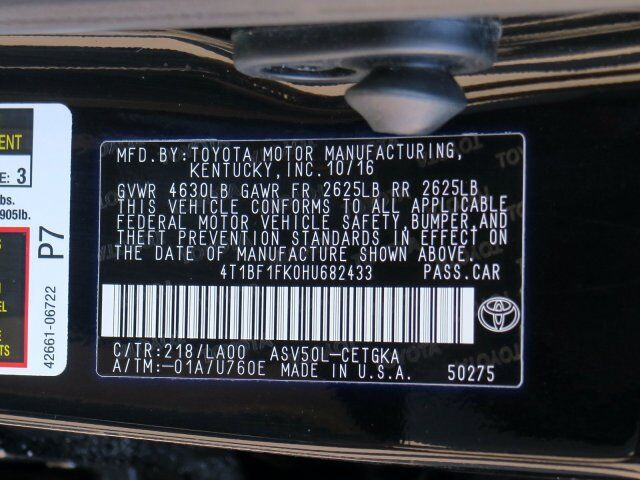 2017 Toyota Camry LE Toms River NJ